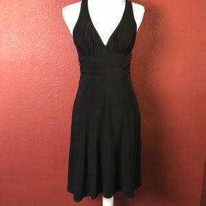 Laundry Shelli Segal Black Crossback Party Dress